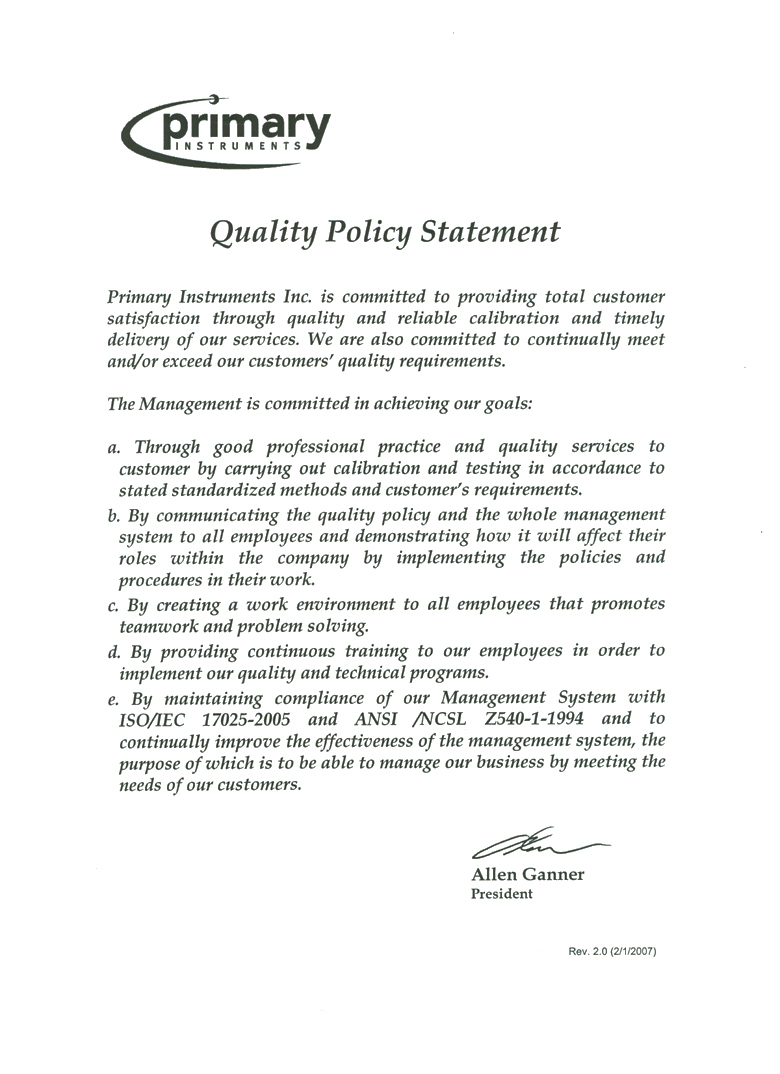 Quality+policy
